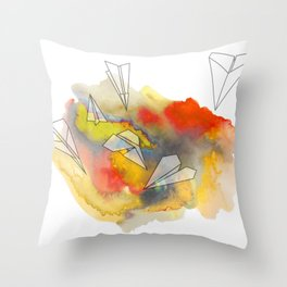 Sunplanes Throw Pillow