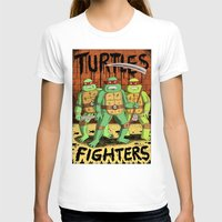 foo fighters T-shirts featuring TURTLES FIGHTERS by Jack Teagle