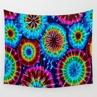 tie dye Wall Tapestries featuring Tie Dye by gypsykissphotography
