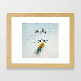 Everyday is summer Framed Art Print