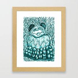 Delicious Panda Framed Art Print