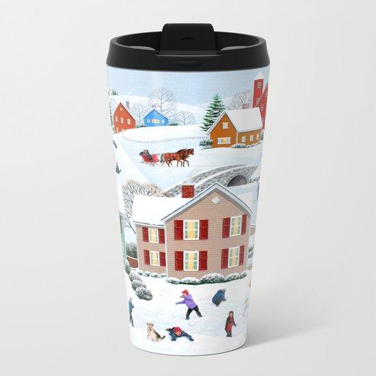 Once Upon a Winter Metal Travel Mug