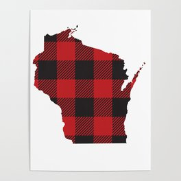 Wisconsin Plaid Flannel Poster