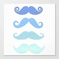 moustache Canvas Prints featuring Moustache by Amy Copp