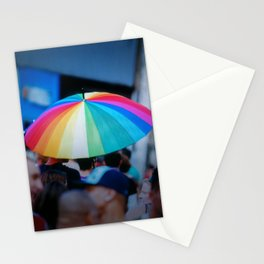 Colorful Umbrella Stationery Cards