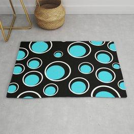 Circle pattern, geometric pattern, blue pattern Rug