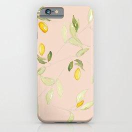 Watercolor Kumquat Peach Background iPhone Case
