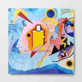 Yellow Red Blue - Tribute to Kandinsky Metal Print