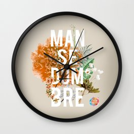 Mansedumbre Wall Clock