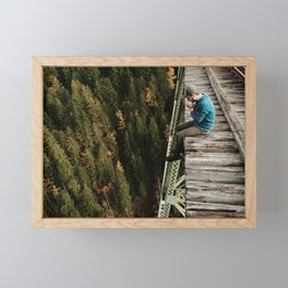 Bridge Sitting Framed Mini Art Print