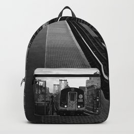 Black and White J Train Backpack