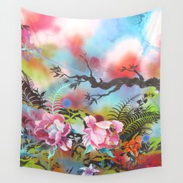 Pink Peonies Street Style Wall Tapestry