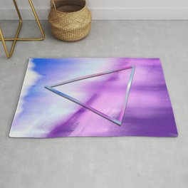 Floating Triangle (abstract art) Rug