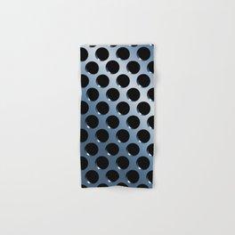 Cool Steel Graphic Art Like Polka Dots Hand & Bath Towel