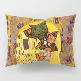 Kiss Klimt Cats Pillow Sham