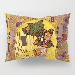 Kiss Klimt Cats Pillow Sham
