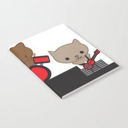 Kitty Cat Kawaii Band usic Notebook