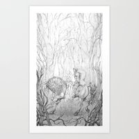 The Dark Forest - La Forêt de L'Obscure Art Print
