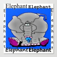 baby elephant Canvas Prints featuring Elephant(Baby) by Vivian Fortunato