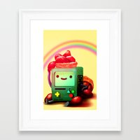 bmo Framed Art Prints featuring BMO by Full Ten