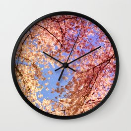 Cherry Blossom Sky Wall Clock