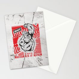 Mayhem Ape (Black on Red) Stationery Cards