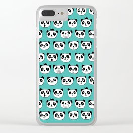 emotional panda pattern Clear iPhone Case