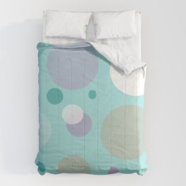 Teal Dots Comforters