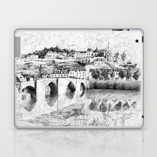 Terrasson village - Black ink Laptop & iPad Skin