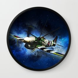 Spitfire Night Flight Wall Clock