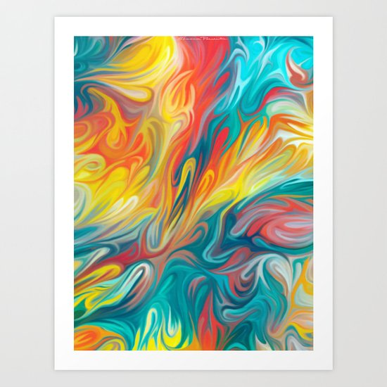 Abstract Colors II Art Print