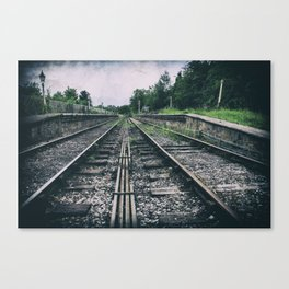 Deserted railway Canvas Print