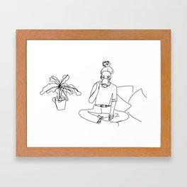 Plant lover Framed Art Print
