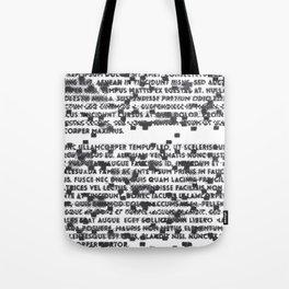 Lorum Glitchsum (White) Tote Bag