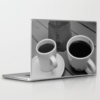 coffe Laptop & iPad Skins featuring Coffe for two by Camaracraft