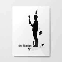 One Sixth Ism (Black Statue) Metal Print