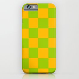 Lime Green & Golden Yellow Chex 2 iPhone Case