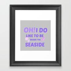 BY THE SEASIDE Framed Art Print