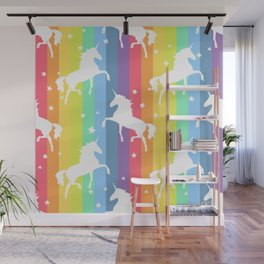 Rainbow Unicorns Wall Mural