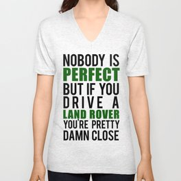 Drive a LandRover Unisex V-Neck