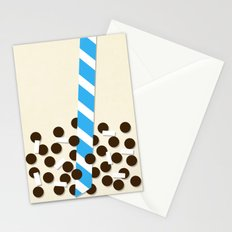 Milk Tea w/ Boba & Lychee Jelly Stationery Cards