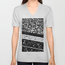 Terrazzo Pattern Black & White #1 #texture #decor #art #society6 Unisex V-Neck