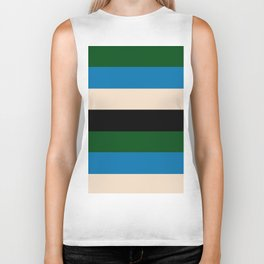 Color Stripe _003 Biker Tank