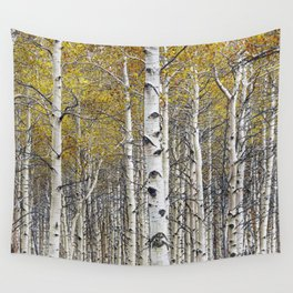 Birch Trees in Autumn Wall Tapestry