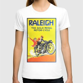 Raleigh Motorcycle, vintage poster T-shirt