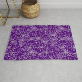 Purple Cobwebs Rug