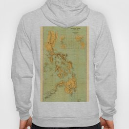 Map Of The Philippines 1898 Hoody