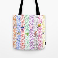 digimon Tote Bags featuring Digimon 15th Anniversary by AbigailC