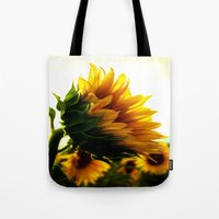 sunflower Tote Bags featuring Sunflower by 2sweet4words Designs