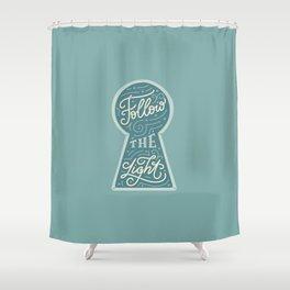 Follow the Light Shower Curtain